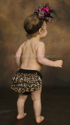 Starting her off early to be a leopard  lover :)