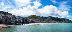 Cefalù beach panorama