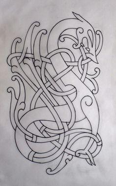 Viking urnes by darksuntattoo celtic design кельтский, тату, Viking Dragon, Celtic Dragon, Viking Art, Norse Tattoo, Celtic Tattoos, Viking Designs, Celtic Designs, Viking Embroidery, Embroidery Patterns
