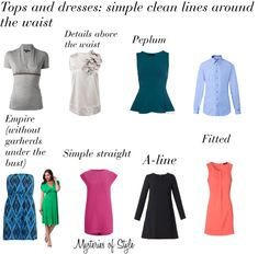 Tops and dresses for Rectangle (H) body shape
