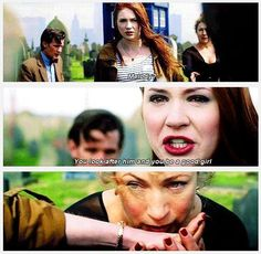 """""""Melody, look after him and be a good girl."""" Doctor Who, Angels take Manhattan. Oh how I cried! Doctor Who, 11th Doctor, Girl Doctor, Geronimo, Serie Doctor, Don't Blink, Torchwood, Film Serie, David Tennant"""