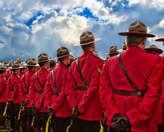 RCMP standing at attention during Labor Day celebration Canadian Things, Standing At Attention, National Police, Canada Eh, Lest We Forget, The Province, Together We Can, Canada Travel, Cops
