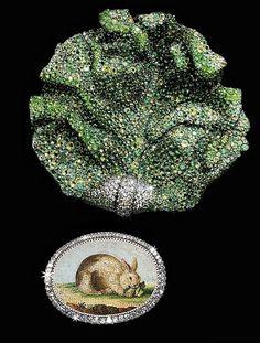 JAR  lettuce leaf brooch via the MET Museum NYC
