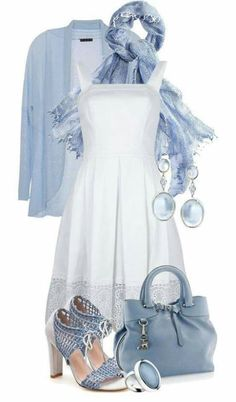 The dress and shoes are not my typical style, but there's just something so appealing about this color combination