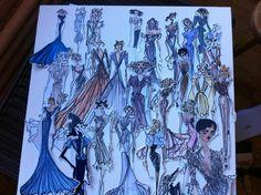 Zac Posen's sketches