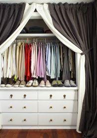 Built in dresser in the closet -- love!