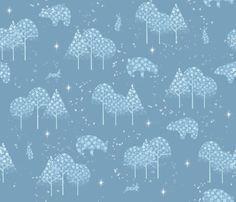 Winter_snow fabric by un_temps_de_coton on Spoonflower - custom fabric