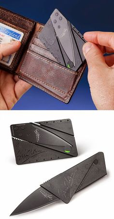 Cool Gadget Toys: Credit Card sized Knife