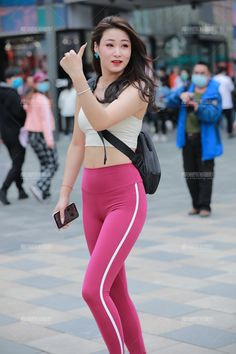 Yoga Pants Girls, Girls In Leggings, Gym Leggings, Tight Leggings, Leggings Fashion, Cute Japanese Girl, Military Women, Beautiful Asian Girls, Workout Wear