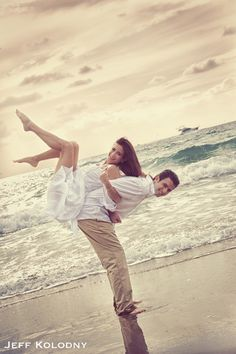 Cool Pose from a beach engagement shoot in Palm Beach FL