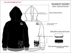 Tech Pack Design Hooded Sweat Shirt Fashion Studio Dessert Ideas
