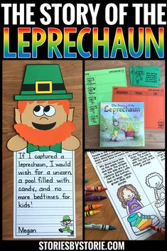 The Story of the Leprechaun by Katherine Tegen is a great story to read near St. Patrick's Day. This book companion is filled with comprehension questions, vocabulary words, graphic organizers, writing prompts, and a fun leprechaun craft!