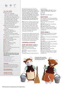 "Фотках Puppen Vintage Photo from album ""Simply Knitting - January on Yandex. Animal Knitting Patterns, Crochet Dolls Free Patterns, Christmas Knitting Patterns, Amigurumi Patterns, Simply Knitting, Easy Knitting, Knitted Teddy Bear, Little Cotton Rabbits, Crochet Quilt"