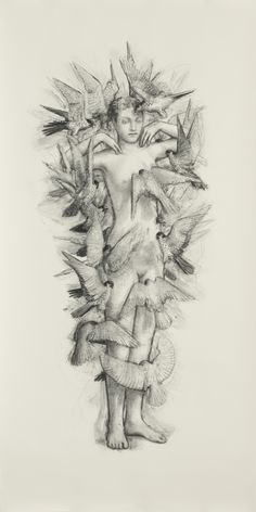 Juul Kraijer's subject is the same naked female figure she has drawn repeatedly for more than a decade, whose features she has universal...