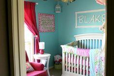 Project Nursery - Pink and Aqua Nursery - Project Nursery