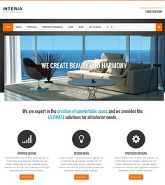 This interior design and furniture WordPress theme features a clean design, a responsive layout, WPML and WooCommerce compatibility, SEO optimization, a page builder, a theme customizer, dynamic thumbnail resizing, and more.