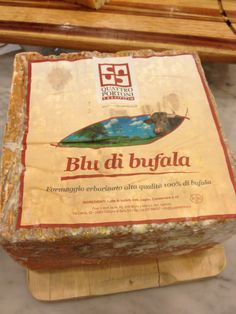 Blu di Bufala - our newest blue cheese from Italy made from water buffalo milk.
