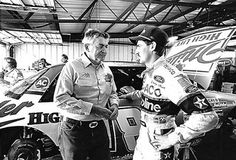 Bobby Allison with son Davey. A great loss for NASCAR at such a young age.