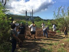 Got dirt? Hawaiian Electric partnered with community members on the Leeward Coast to install a mulch path in its landscaped property next to our Kahe Power Plant