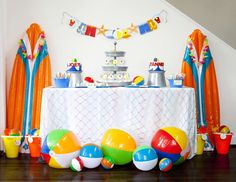 "Beach / Birthday ""It's a Beach Bash.....2nd Birthday Party for Joey & Tanner"" 
