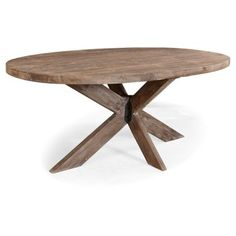 "Check out this item at One Kings Lane! Xavier 78"" Oval Dining Table, Natural"