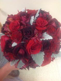 Red rosé bouquet