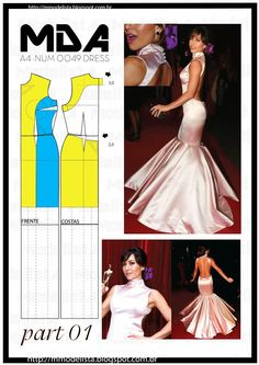 The bell dress, pattern instructions, part 1