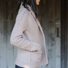 """The sweater that started my love affair with Quince and Co. I love the detail of this sweater.... it is on my """"someday I will do this!"""" list."""