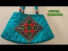 make at home. Super funky handbagDiymake at homehindimagical hands . bag new design make at home with cutting and sewing . bag 3 make at home diy magical hands Embroidery Bags, Flower Embroidery Designs, Sewing Sleeves, Diy Bags Purses, Denim Purse, Diy Handbag, Macrame Bag, How To Make Handbags, Beaded Bags