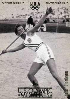"""RARE 1996 UPPER DECK OLYMPICARD U.S. OLYMPIC MOMENTS """"BABE"""" DIDRIKSON USA TEAM"""