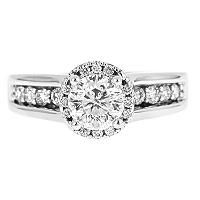 1.50 ct. t.w. Round Cut Framed Diamond Ring in 14k White Gold (H-I, I1) - Sam's Club