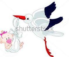 Výsledek obrázku pro čáp letící s miminkem