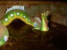 Vintage Disney Parks — yourghosthost: Leagues Under the Sea:. Abandoned Theme Parks, Abandoned Places, Abandoned Amusement Parks, Disney Rides, Disney Parks, Disney Fun, Disneylândia Vintage, Vintage Mickey, Nostalgic Pictures