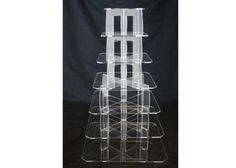 #CakeDecorating 7 Tier Square Perspex #Cupcake Stand http://www.mycakedecoratingshop.co.uk/cake-cupcake-shop/cake-cupcake-accesories/cake-cupcake-stands/7-tier-square-perspex-cupcake-stand