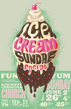 KillingClipArt | Ice Cream Sundae Social sponsored by TEP(2011) | poster concept
