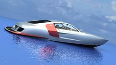 """CAT""""The Aqua Audi? Yet another hydro-vision from the fertile mind of Bo Zolland and VizualTech Design is an Audi based catamaran that puts. Yacht Design, Boat Design, Fast Boats, Speed Boats, Catamaran, Audi R8, Audi Quattro, Float Your Boat, Yacht Boat"""