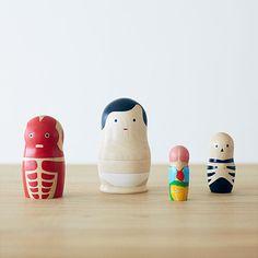 Human Anatomy Nesting Figures