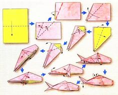 Origami diagram of the Zodiac: fish, model 2