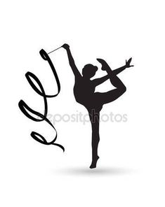 Gymnast Girl silhouette with ribbon isolated on white background. Rhythmic Gymnastic young girl Isolated. Gym kids. Olympic athlete gymnastic. Gymnastic Ribbon Vector. Artistic gymnastics, ballet, yoga, gym, fitness sports — Stock Vector © sofiartmedia.gmail.com #130557592