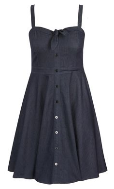 City Chic - SWEET DENIM DRESS - Women's Plus Size Fashion