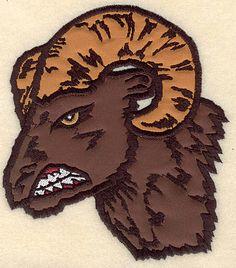 Ram Head medium double applique | Applique Machine Embroidery Design or Pattern