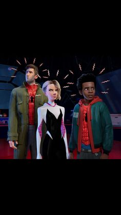 Marvel Drawing New look at Peter Gwen and Miles from Spiderman: Into the Spiderverse Spiderman And Gwen, Spiderman Art, Miles Spiderman, Miles Morales, Marvel Art, Marvel Movies, Drawing Cartoon Characters, Cartoon Drawings, Best Superhero