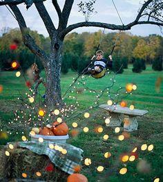 lights, bobbing for apples, smores