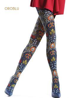 fb84c4af8cbf6 Oroblu folk tights Leggings, Tights, Ethnic Fashion, Dress Me Up, Cool  Designs