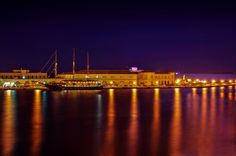 Night lights at the port Greek Islands, Greece, Explore, Night Lights, Photo And Video, Travel, Greek Isles, Greece Country, Viajes