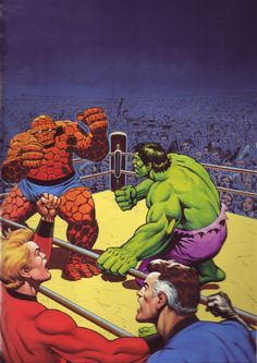 #Hulk #Fan #Art. (Fantastic Four: The Thing vs Hulk) By: Thomas Frisano. (THE * 5 * STÅR * ÅWARD * OF: * AW YEAH, IT'S MAJOR ÅWESOMENESS!!!™)[THANK Ü 4 PINNING<·><]<©>ÅÅÅ+(OB4E)              https://s-media-cache-ak0.pinimg.com/474x/cf/86/4f/cf864f2bf0b380aab51ea8da94dc9158.jpg