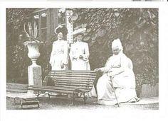 """Empress Alexandra Feodorovna of Russia,Grand Duchess Xenia Alexandrovna Romanova of Russia and Grand Duchess Alexandra Iosifovna Romanova of Russia. """"AL"""""""