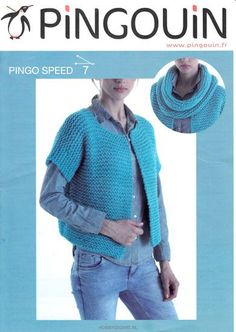 Gratis+Patroon+gebreid+dames+vest+Pingo+Speed+van+Pingouin    Dit+vestje+met+een+eenvoudig+patroon+is+echt+een+musthave+voor+deze+lente+en+zomer.+Brei+hem+in+de+prachtige+kleuren+van+Pingo+Spe...
