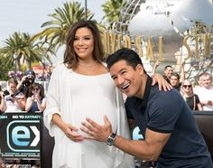 Nonstop:Eva Longoria visited the set of Extra in Hollywood on Tuesday...