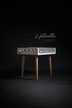 habitables.etsy.com stool bench white and oak